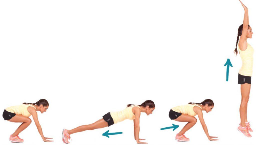 Burpees es un ejercicio simple que le dará un moldeado confiable